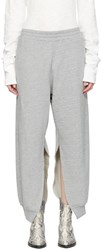 Maison Martin Margiela Mm6 Grey Cut Out Side Lounge Pants