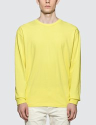John Elliott University Long Sleeve T Shirt Yellow