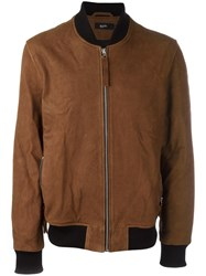 Blood Brother Zipped Bomber Jacket Brown