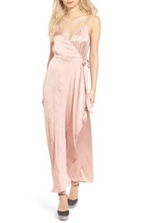Band Of Gypsies Women's Satin Wrap Dress