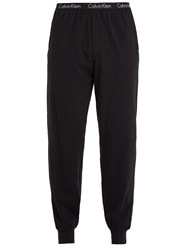 Calvin Klein 205W39nyc Logo Print Stretch Cotton Pyjama Trousers Black