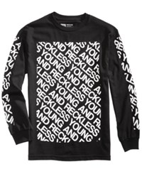 Young And Reckless Men's Long Sleeve T Shirt Black