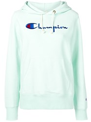 Champion Embroidered Logo Hoodie Green
