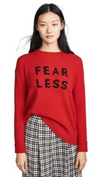 360 Sweater Fear Less Cashmere Ruby Black