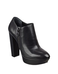 Guess Paprikka Platform Leather Ankle Booties Black
