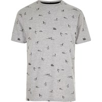 River Island Mens Grey Pin Up Girl T Shirt