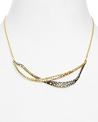 Alexis Bittar Miss Havisham Two Tone Liquid Metal Small Bib Necklace 16 Bloomingdale's Exclusive Gunmetal Gold