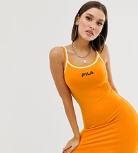Fila Cami Dress With Contrast Tipping Orange
