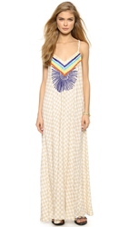 Mara Hoffman Embroidered Maxi Dress Vanster Stone