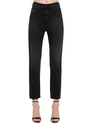 Diesel Eiselle High Waist Cotton Denim Jeans Black
