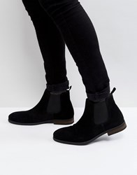 Call It Spring Andler Suede Chelsea Boots In Black