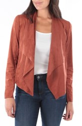 Kut From The Kloth Tayanita Faux Suede Jacket Spice
