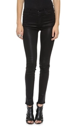 Koral Coated High Rise Skinny Jeans Black Coated