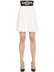 Stefano De Lellis Embellished Pleated Crepe Skirt
