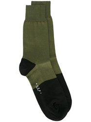 Marni Two Tone Socks Green