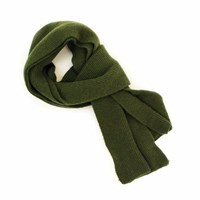 40 Colori Military Green Solid Wool And Cashmere Scarf