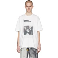 Song For The Mute White Oversized Portrait T Shirt