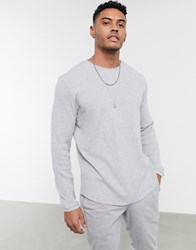Bershka Crew Neck Jumper In Grey