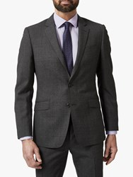 Richard James Mayfair Melange Flannel Wool Tailored Suit Jacket Charcoal