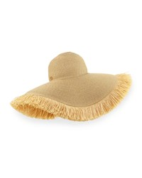 Eric Javits Floppy Fringe Sun Hat Brown