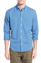 Men's Relwen 'Lakeside' Classic Fit Seersucker Gingham Sport Shirt Blue Light Blue Gingham
