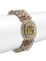 Heidi Daus Crystal And Rhinestone Multi Strand Bracelet Gold