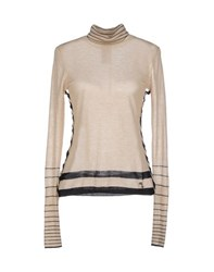 Roberta Scarpa Knitwear Turtlenecks Women Beige