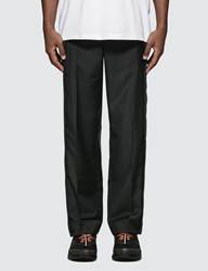 Burberry Striped Panel Wool Mohair Tailored Trousers
