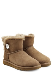 Ugg Australia Mini Bailey Bling Boots With Swarovski Crystal Brown