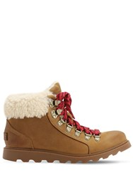 Sorel Ainsley Suede Conquest Boots Light Brown