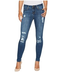 Liverpool Abby Skinny With Destruct Detail In Vintage Super Comfort Stretch Denim In Smithtown Destruct Smithtown Destruct Women's Jeans Blue