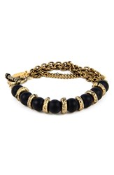 Men's Ettika Brass And Onyx Chain Bracelet