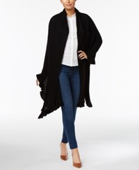 Charter Club Wool Cashmere Ruffled Wrap Only At Macy's Deep Black