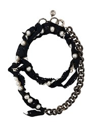 Lanvin Chunky Pearl Necklace Black