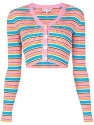 Opening Ceremony Cropped Striped Rib Cardigan 60