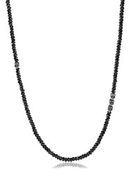 David Yurman Skull Station Spinel Beads Necklace