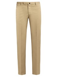 Incotex Cotton Blend Slim Fit Chino Trousers Khaki