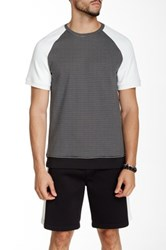 Kenneth Cole Colorblock Mixed Media Tee Black