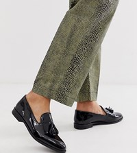 House Of Hounds Wide Fit Pointer Loafers In Black Patent