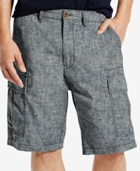 Levi's Men's Carrier Loose Fit Cargo Shorts Light Blue Chambray