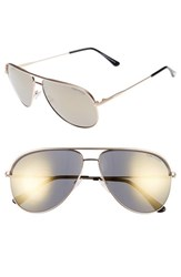 Tom Ford Women's 'Erin' 61Mm Aviator Sunglasses Rose Gold Smoke Gold Rose Gold Smoke Gold