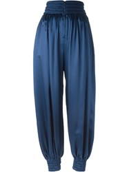 Fendi High Waisted Harem Trousers Blue