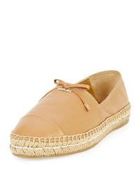 Prada Napa Leather Bow Espadrille Natural Naturale