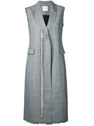 Each X Other Sleeveless Coat Women Virgin Wool S Grey