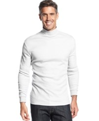 John Ashford Long Sleeve Mock Neck Solid Interlock Shirt Bright White