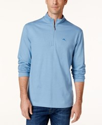 Tommy Bahama Men's Shadow Cove Half Zip Sweatshirt A Macy's Exclusive Style Cabo Blue