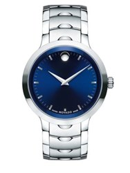 Movado Luno Analog Stainless Steel Bracelet Watch Blue