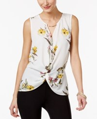Thalia Sodi High Low Hardware Top Only At Macy's White Combo