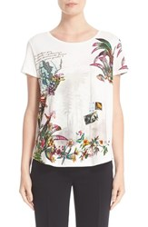 Etro Women's Animal Postcard Print Tee