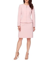 Tahari By Arthur S. Levine Two Piece Jewel Neck Peplum Jacket And Skirt Suit